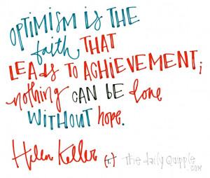 Helen Keller Quotes Optimism