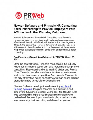 to provide employers with affirmative action planning solutions