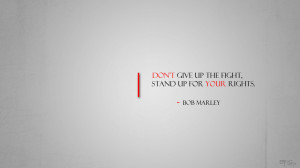 Bob Marley Don't Give Up Quote Wallpaper