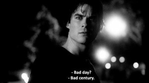 the vampire diaries, damon salvatore, quote, black and white, ian ...