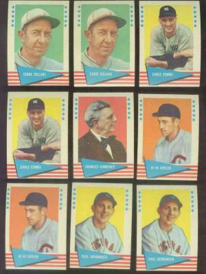 1961 Fleer #.17 Earle Combs (Yankees) Baseball cards value
