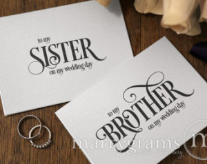 Thank You Brother Quotes From Sister Wedding card to your brother