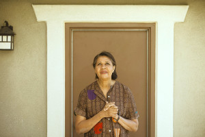 Author Jamaica Kincaid poses for a portrait in the backyard of her ...