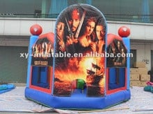 Pirates of the Caribbean themed inflatable bouncer
