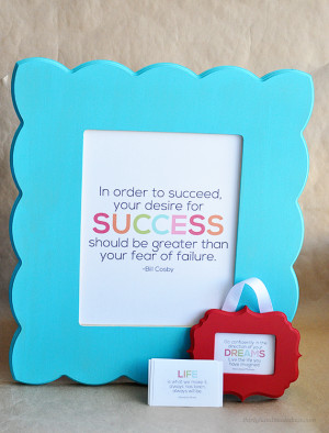 and easy gift idea- Printable Interchangeable Quotes with cute frame ...