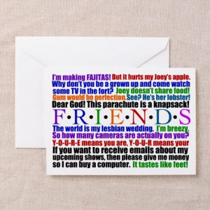 ... > Chandler Greeting Cards > Friends Quotes Greeting Cards (Pk of 10