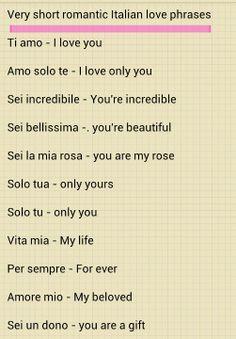 Italian Love Quotes With English Translation Italian love phrases 1