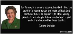 Death of a Young Person Quotes