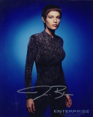 Sig Star Trek Enterprise Jolene Blalock TPol Signed 8x10 Photo