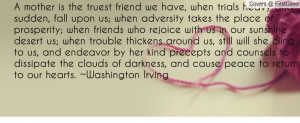 ... darkness, and cause peace to return to our hearts. - Washington Irving