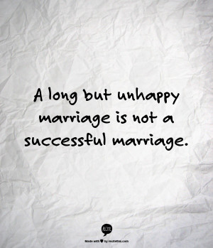 Long But Unhappy Marriage