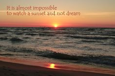 Lake Michigan Sunset & Quote by tattboy on Etsy, $10.00