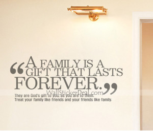 What Is Family Quotes Wall Sticekrs