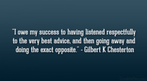 Gilbert K Chesterton Quote