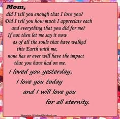 Go Back > Pics For > I Miss You Mom Rip Quotes