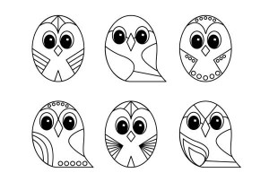 owl line art designs