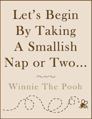 PRINTABLE Winnie The Pooh Nap Quote Poster on Etsy, $10.01