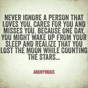 ... wake up and realize that you lost the moon while counting the stars