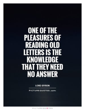 Letter Quotes Answer Quotes Lord Byron Quotes
