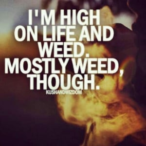 High Life Quotes Weed High on #life and #weed.