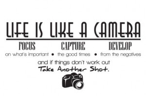 ... is like a camera Vinyl Wall Lettering Quotes Sayings Decor Art Decals