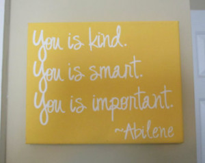 ... You is important.