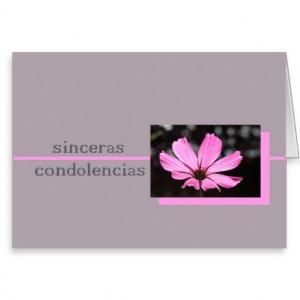 Condolences Images In Spanish Pink cosmos spanish sympathy