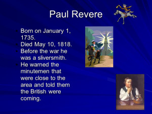 Paul Revere And The Minutemen Of American Revolution Library