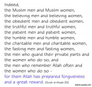 thisblogspeaksforme:islamic-quotes:For them allah's forgiveness ...