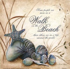 The Beach by Charlene Winter Olson art print