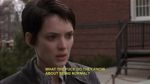 What the fuck do they know about being normal?