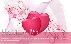 Bible Verse On Love Marriage Matthew 19:6 Heart HD Wallpaper