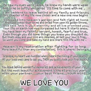 poem i wrote for my grandpa