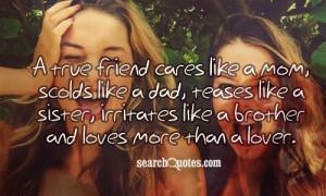 Cousins Are Like Sisters Poems A true friend cares like a mom