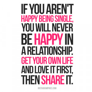 Happy Being Single Advice Quote Picture