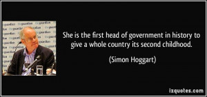 She is the first head of government in history to give a whole country ...