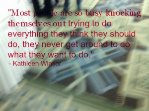 Quote on being too busy