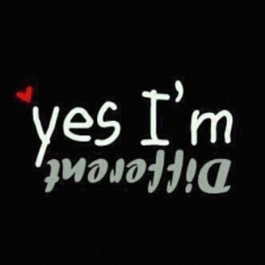Yes! I'm Different!