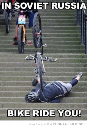 man falling down stairs soviet russia bike rides you funny pics ...