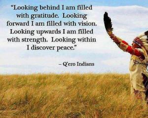 Native Americans' wisdom ~