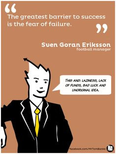 Banks Quotes - 'The greatest barrier to success is the fear of failure ...