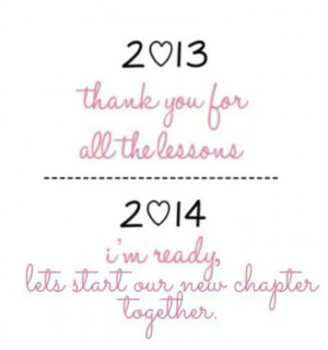 Bye 2013...Welcome 2014...