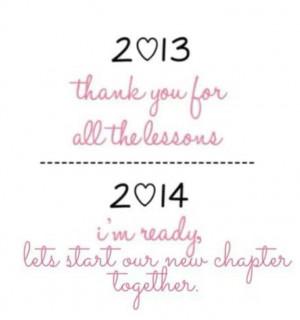 Bye 2013...Welcome 2014...