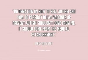 Jenny McCarthy Autism Quotes