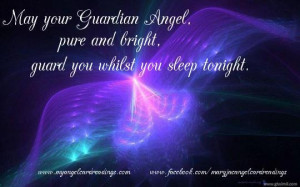 thingswhilst wrapped in your guardian angels wings good night quote
