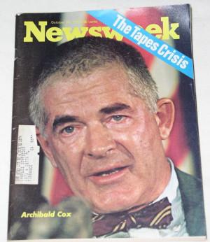 ARCHIBALD COX/RICHARD NIXON VINTAGE 1973 MAGAZINE