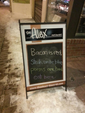 Funny restaurant signs.