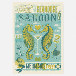 eu.Fab.com | Seahorse Saloon Print