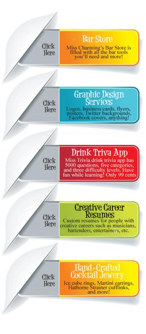 misscharming.combartender business card