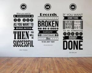 ... Branson, Eric Thomas Inspiring Wall Decal Quotes 3 piece set Collage